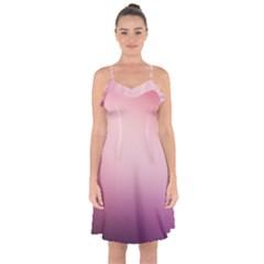Background Blurry Template Pattern Ruffle Detail Chiffon Dress