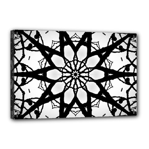 Pattern Abstract Fractal Canvas 18  X 12