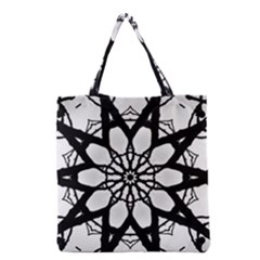 Pattern Abstract Fractal Grocery Tote Bag