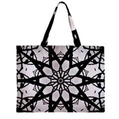 Pattern Abstract Fractal Zipper Mini Tote Bag