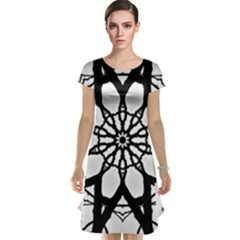 Pattern Abstract Fractal Cap Sleeve Nightdress
