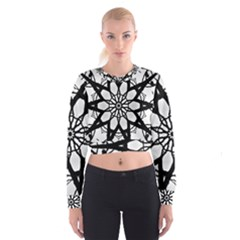 Pattern Abstract Fractal Cropped Sweatshirt