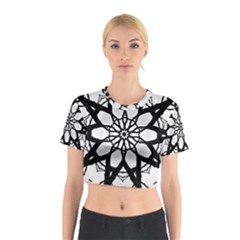 Pattern Abstract Fractal Cotton Crop Top