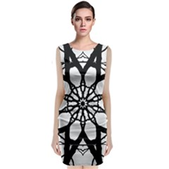 Pattern Abstract Fractal Classic Sleeveless Midi Dress