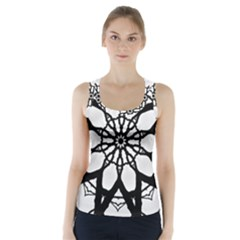 Pattern Abstract Fractal Racer Back Sports Top