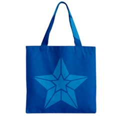 Star Design Pattern Texture Sign Zipper Grocery Tote Bag