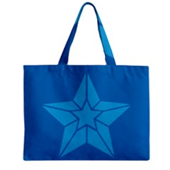 Star Design Pattern Texture Sign Zipper Mini Tote Bag