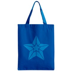 Star Design Pattern Texture Sign Zipper Classic Tote Bag