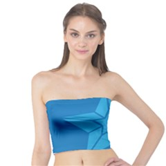 Star Design Pattern Texture Sign Tube Top