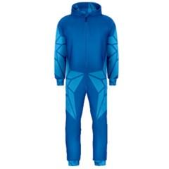 Star Design Pattern Texture Sign Hooded Jumpsuit (men)