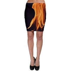 Fire Flame Pillar Of Fire Heat Bodycon Skirt