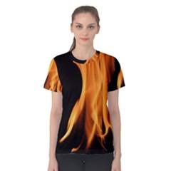 Fire Flame Pillar Of Fire Heat Women s Cotton Tee