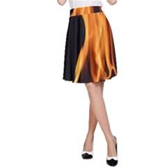 Fire Flame Pillar Of Fire Heat A Line Skirt