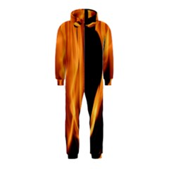 Fire Flame Pillar Of Fire Heat Hooded Jumpsuit (kids)