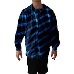 Background Light Glow Blue Hooded Wind Breaker (kids)