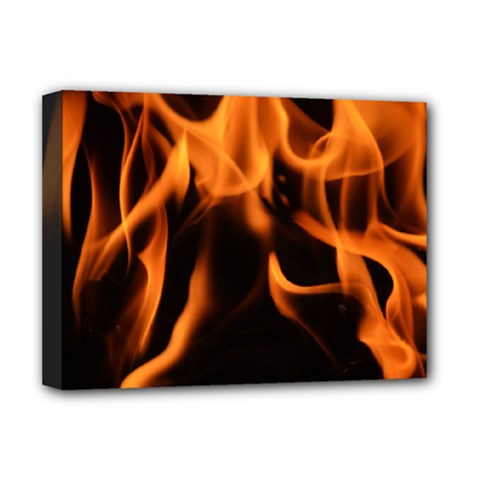 Fire Flame Heat Burn Hot Deluxe Canvas 16  X 12