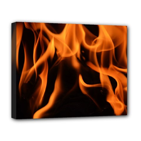 Fire Flame Heat Burn Hot Deluxe Canvas 20  X 16