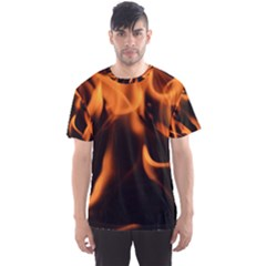 Fire Flame Heat Burn Hot Men s Sports Mesh Tee