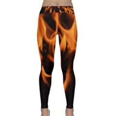 Fire Flame Heat Burn Hot Classic Yoga Leggings