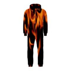 Fire Flame Heat Burn Hot Hooded Jumpsuit (kids)