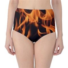 Fire Flame Heat Burn Hot High Waist Bikini Bottoms