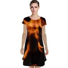 Fire Flame Heat Burn Hot Cap Sleeve Nightdress