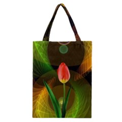 Tulip Flower Background Nebulous Classic Tote Bag