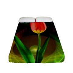 Tulip Flower Background Nebulous Fitted Sheet (full/ Double Size)