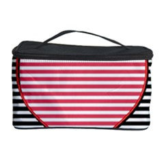 Heart Stripes Symbol Striped Cosmetic Storage Case