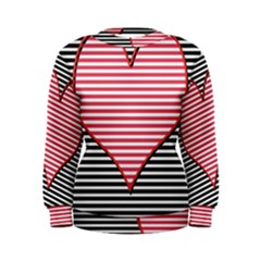Heart Stripes Symbol Striped Women s Sweatshirt