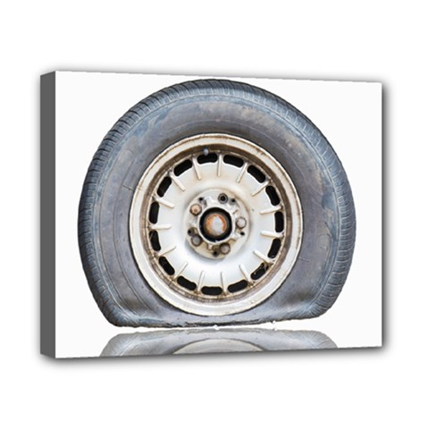 Flat Tire Vehicle Wear Street Canvas 10  X 8