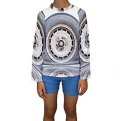 Flat Tire Vehicle Wear Street Kids  Long Sleeve Swimwear