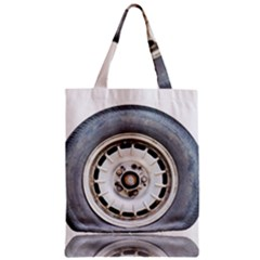 Flat Tire Vehicle Wear Street Zipper Classic Tote Bag