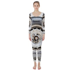 Flat Tire Vehicle Wear Street Long Sleeve Catsuit