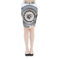 Flat Tire Vehicle Wear Street Midi Wrap Pencil Skirt