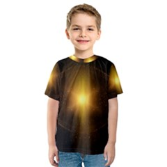 Background Christmas Star Advent Kids  Sport Mesh Tee