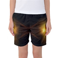 Background Christmas Star Advent Women s Basketball Shorts