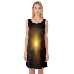 Background Christmas Star Advent Sleeveless Satin Nightdress