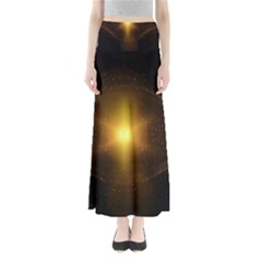 Background Christmas Star Advent Maxi Skirts