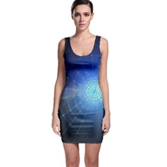 Network Cobweb Networking Bill Sleeveless Bodycon Dress