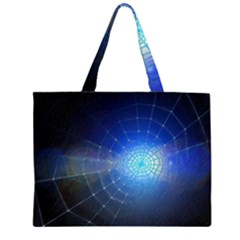 Network Cobweb Networking Bill Zipper Large Tote Bag