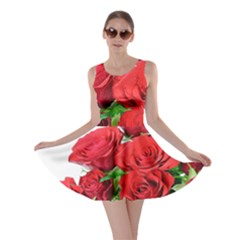 A Bouquet Of Roses On A White Background Skater Dress