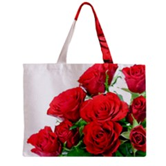 A Bouquet Of Roses On A White Background Zipper Mini Tote Bag