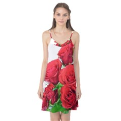 A Bouquet Of Roses On A White Background Camis Nightgown