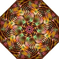 Wave Rings Circle Abstract Folding Umbrellas