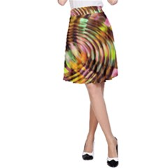 Wave Rings Circle Abstract A Line Skirt