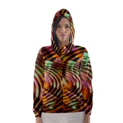 Wave Rings Circle Abstract Hooded Wind Breaker (women)