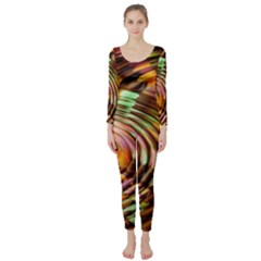 Wave Rings Circle Abstract Long Sleeve Catsuit