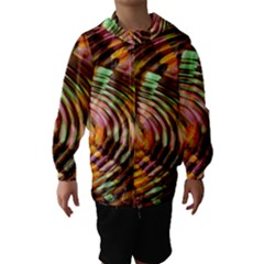 Wave Rings Circle Abstract Hooded Wind Breaker (kids)
