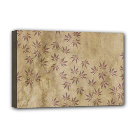 Parchment Paper Old Leaves Leaf Deluxe Canvas 18  X 12